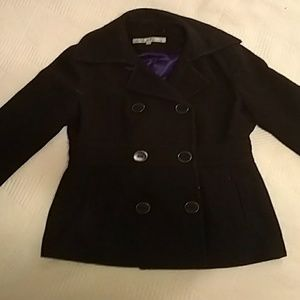 Kenneth Cole Black size 10 winter pea coat